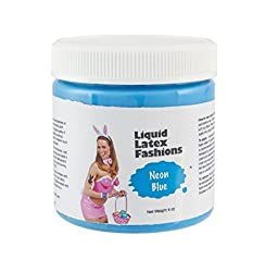 Ammonia Free Liquid Latex Body Paint - 4oz Neon Blue