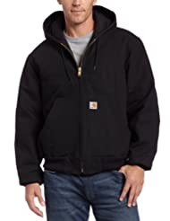 Carhartt Men's Duck Active Jacket- Quilted Flannel Lined J140