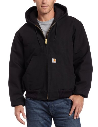 Carhartt Men's Quilted Flannel Lined Duck Active Jacket J140,Black,Medium (Mens Quilted Flannel compare prices)
