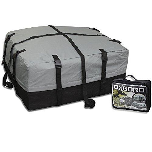 OxGord Car Van Suv Roof Top Cargo Rack Carrier Soft-Sided Waterproof Luggage Travel Bag - 10 Cubic Feet