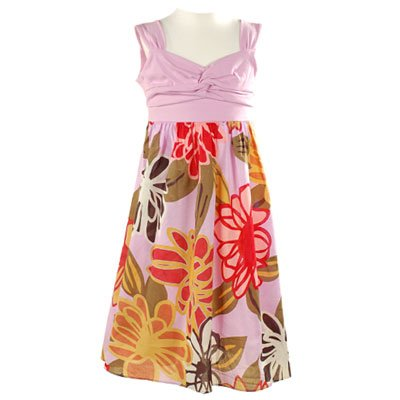 Fashion Dresses 2011   Girls on Little Girls Clothes Purple Flower Sleeveless Summer Dress Bonnie Jean
