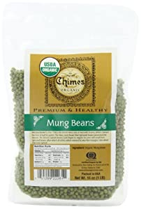 Chimes Organic Mung Beans, 16-Ounce Pouches (Pack of 6)