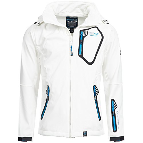 Geographical Norway Herren Softshell Jacke Taken Weiß