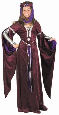 Child's Medieval Queen Costume (Size: X-Large 12-14)