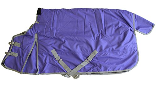 "1200D Heavy Weight Waterproof Horse Turnout Blanket Purple, 70"" front-772119"
