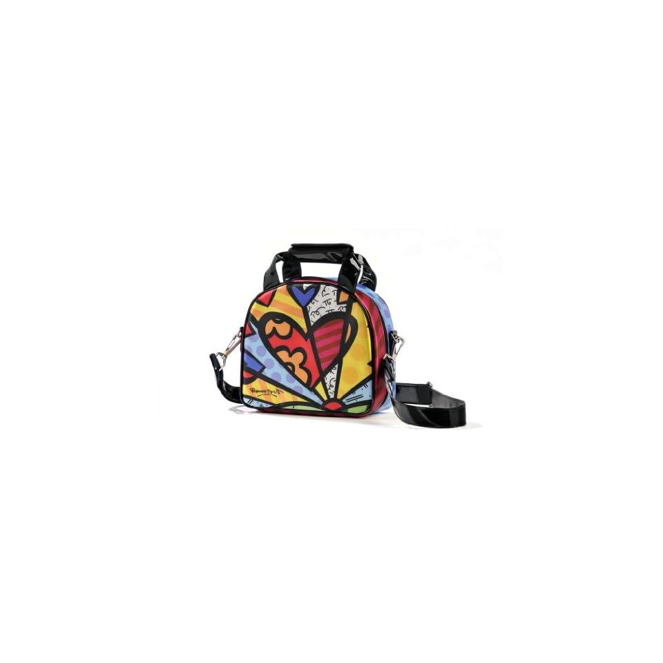 43456afca192 Romero Britto Satin Lunch Bag Heart on PopScreen
