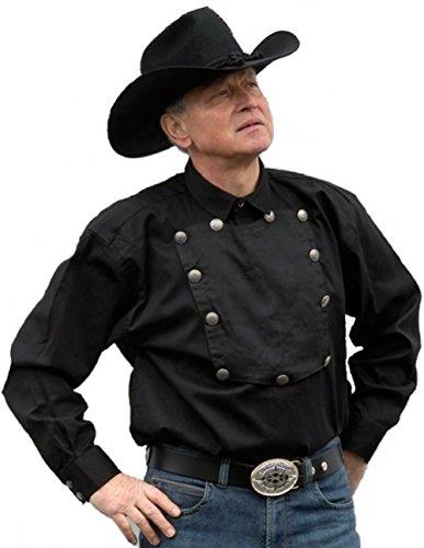 Camicia John Wayne Western colore Nero S - camicia 4XL