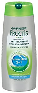Garnier Fructis Shampoo + Conditioner, Anti-Dandruff, Clean & Fresh, 25.4 oz.