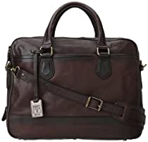 Hot Sale Frye James Work Zip Tumbled Full Grain DB116 Briefcase,Dark Brown,One Size