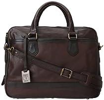 Hot Sale Frye James Work Zip Tumbled Full Grain DB116 Briefcase,Dark Brown,One Size