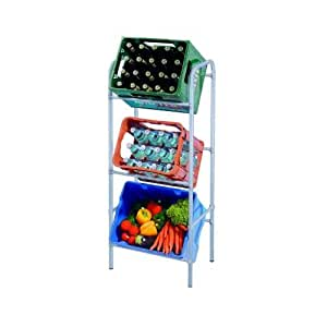 Kistenregal, Kastenständer, Getränkekistenregal, Kastenregal, Kistenständer, Flaschenkastenregal - 3 Kästen -