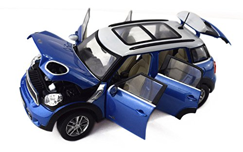 Tourwin Toy car 1:24 BMW MINI Cooper S Countryman simulation blue car model collection decoration alloy children's toys 6 doors can open