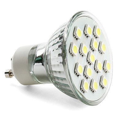 Gu10 5050 Smd 15-Led White 150-200Lm Light Bulb (230V, 2-2.5W)