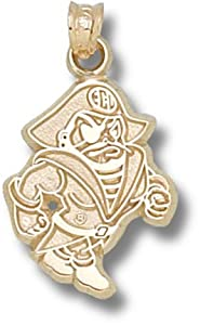 East Carolina University Petey Pendant 3 4 Inch - Gold Plated by Logo Art