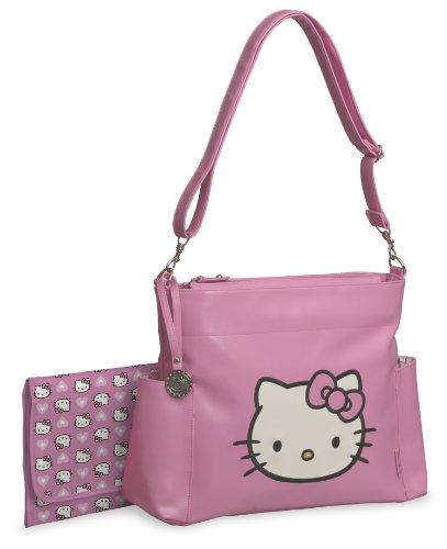 Hello Kitty Vinyl Applique Diaper Tote Bag, Pink/White - 1