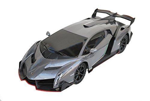 1/18 Scale R/C Lamborghini Veneno SuperCar Radio Remote Control Model Car RC (Grey)