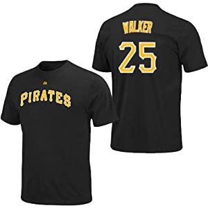 Neil Walker Pittsburgh Pirates Black Player T-Shirt by Majestic by Majestic