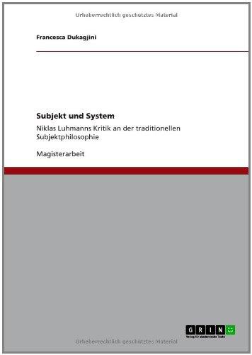 Subjekt und System (German Edition)