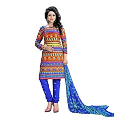 Shree Hari Creation Women's Poly Cotton Unstitched Dress Material (247_Multi-Coloured_Free Size)