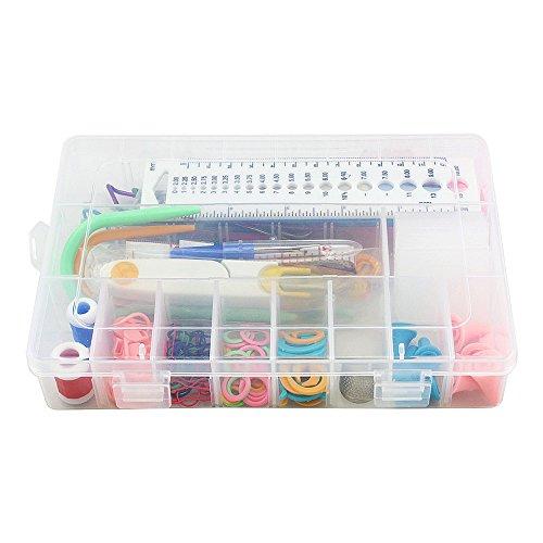 Knitting Accessories Kit : Topix knitting accessory kit supply set basic tools case