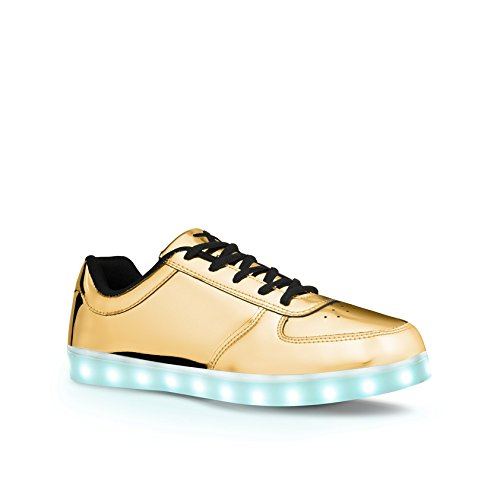 wize & ope LED, Sneaker donna Oro Gold (Gold) 36
