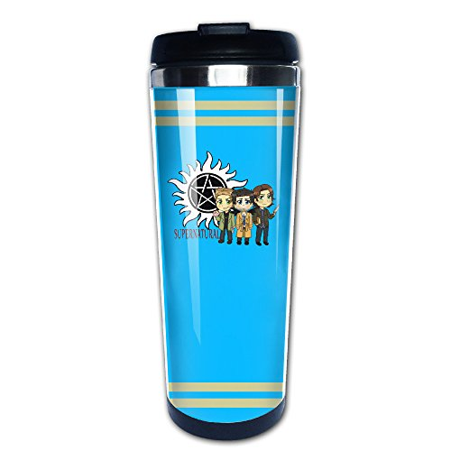 P-Jack Supernatural Logo Custom Cool Stainless Steel Insulation Auto Mug 400ml (Dean Winchester Blue Steel compare prices)
