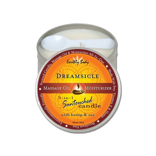 Earthly Body 3-in-1 Suntouched Body Massage Candle Dreamsicle 6oz
