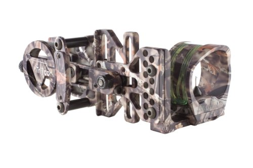 Trijicon Accupin Bow Sight Green Triangle With Dovetail Base And Accudial Mount Right Handed (Lost Camo)