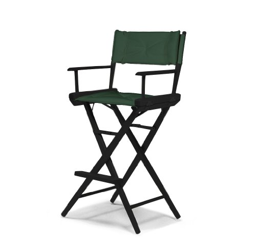 Telescope Casual World Famous Bar Height Director Chair, Black Finish With Forest Green Cover