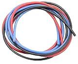 シリコン銀コードセット・16G[ゲージ] (赤、黒、青 各60cm) 967
