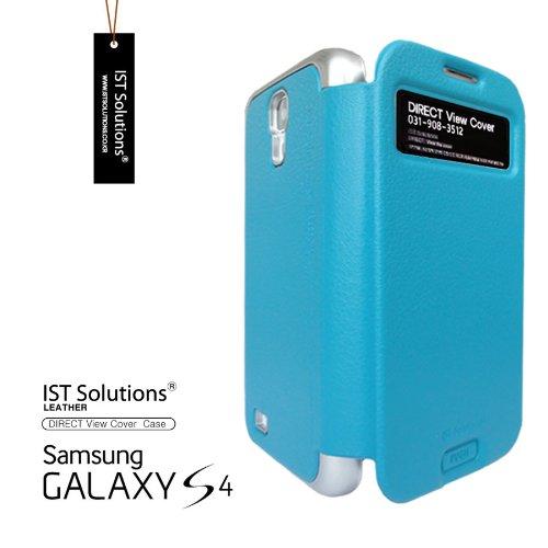 2点セット GALAXY S4 IST DIRECT S VIEW ダイアリー デザイン フリップ カバー ケース カード 収納機能 ( Suica Pasmo Edy ) ワンセグ対応 ワンセグアンテナ対応 ( docomo Galaxy S4 SC-04E / Samsung Galaxy S IV 2013年モデル 対応 ) Standing View Cover for Galaxy S4 i9500 ビュー ケース NTT ドコモ ギャラクシー エスフォー ケース  ドコモ カバー 衝撃保護 ジャケット Flip Cover Case + 液晶保護フィルム1枚 (プレゼント)  Stylish BLUISH GREEN ( 水色 緑色 ブリッシュグリーン )  1306148