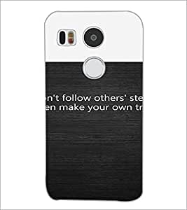 PrintDhaba Quote D-4720 Back Case Cover for LG NEXUS 5X (Multi-Coloured)