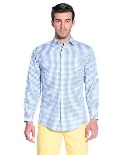 Brooks Brothers Camicia Uomo [Blu/Bianco]