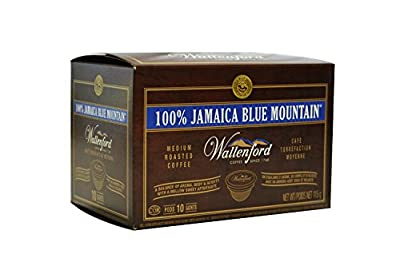 100% Wallenford® Jamaica Blue Mountain® Coffee K Cup Compatible Pods - 10 Pack