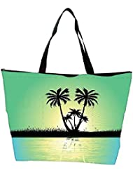 Snoogg Abstract Tropical Background Waterproof Bag Made Of High Strength Nylon - B01I1KFRLM