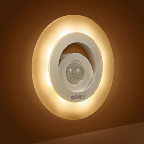 avantek batteriebetriebenes led nachtlichter mit bewegungsmelder magnetische nachtleuchte 150. Black Bedroom Furniture Sets. Home Design Ideas