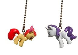 Set of 2 My Little Pony Decorative Ceiling Fan Light Pulls (Apple Bloom and Rarity)