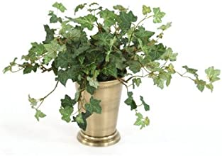 Silk Lace Ivy Desk Top Plant in Julep Pot Set of 3