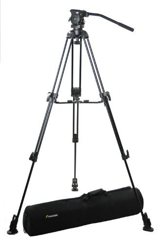 Fancierstudio AVTP Professional Video Camera Tripod FC-370 Pro Video Camera Tripod with Fluid Head By Fancierstudio FC-370