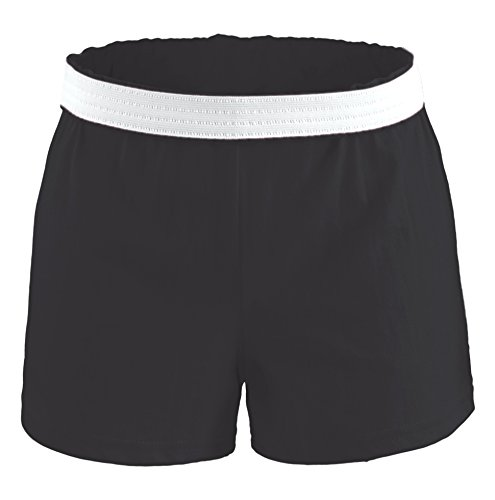 Soffe Youth Girls' Authentic Soffe Shorts, Black, Medium Black Cheer Shorts