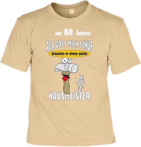 60 geburtstag vor 60 jahren als gott mich schuf brauchte er einen guten hausmeister t shirt. Black Bedroom Furniture Sets. Home Design Ideas