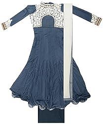 BBJ Export Women's Georgette Dress Material (Grey)