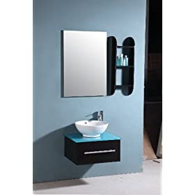 Bathroom Vanity Set, black bath, sink cabinet 9016