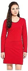 IRAM SHOPPING STORE Women's Regular Fit Dress (IR-DR0IRSS104, Red, Medium)