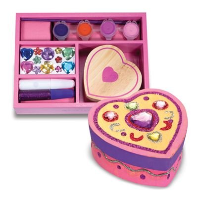 Melissa & Doug Wooden Heart Chest - DYO