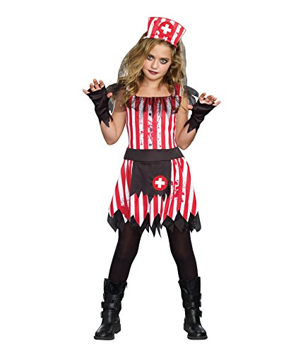 SugarSugar Girls Candy Striper Costume, One Color, Large, One Color, Large