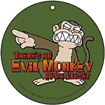 Family Guy Evil Monkey In My Closet Automotive Air Freshener
