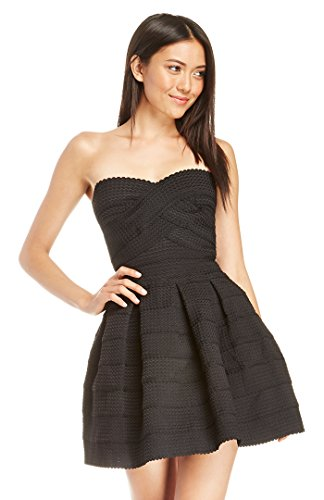 Dailylook Women'S, Bandage Fit And Flare Dress, Black, S