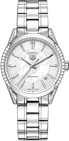 buy Tag Heuer Carrera Mother Of Pearl Dial Diamond Stainless Steel Automatic Ladies Watch Wv2212Ba0798