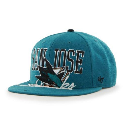 Nhl San Jose Sharks Big Spread Snapback Adjustable Cap, One Size, Dark Teal front-922664